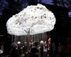 6000個の電球で作られる光る雲「CLOUD: An Interactive Sculpture」