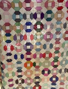 Vintage Hand Stitched Quilt top, Hand Pieced Twin or Throw Size Quilt, Kansas…