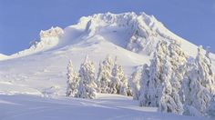 Mount Hood in Winter, Oregon