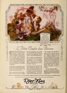 Fairies and Little Folk: Fairie Folk Perfume Ad, Vintage Perfume, Fairy Land, Fairy Tales, Art Deco Illustration, Paris Cafe, Beautiful Fairies, Old Ads, Graphic Design Art