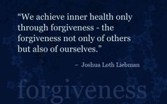 One of the hardest things to do, but forgiving others and yourself is another way to free your mind!