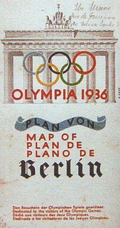 Stadtplan mit Brandenburger Tor, Olympiade II 1936.