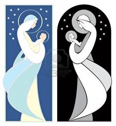 Illustration about Virgin Mary holding baby Jesus, art nouveau style, in full color and grayscale. Illustration of scene, december, celebration - 6347535 Art Nouveau, Stained Glass Church, Mother Art, Jesus Painting, Jesus Art, Mary And Jesus, Holding Baby, Madonna And Child, Illustration