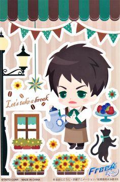 Iwatobi cafe wall sticker ... Free! - Iwatobi Swim Club, free!, iwatobi, wall sticker, yamazaki, sousuke, sousuke yamazaki
