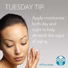 Apply moisturizer both day and night to help diminish the signs of aging. #NuSkin #NuSkinTip