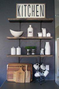 DIY Kitchen Open Shelving - A House and a Dog