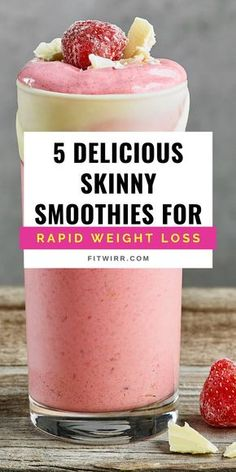 5 Best Smoothie Recipes for Weight Loss 5 delicious skinny smoothies for rapid weight loss. These healthy smoothie recipes are just perfect for your weight loss diet. These are super fulfilling and make a good breakfast replacement and weight loss snack. Weight Loss Meals, Weight Loss Smoothies, Healthy Weight Loss, Snacks For Weight Loss, Best Smoothie Recipes, Good Smoothies, Low Calorie Smoothies, Healthy Fruit Smoothies, Strawberry Banana Smoothie