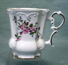 Set of 2 Victorian Tankards Floral Mugs - Rose Tree Chintz