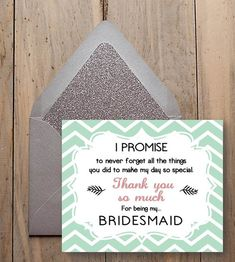 Bridesmaid thank you - for being my bridesmaid - bridesmaid thank you gift - Chevron style - Digital Wedding File - Diy Wedding on Etsy, £2.50