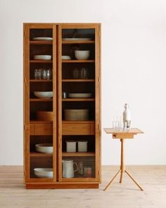 HARVARD cabinet 084 (order made) - Hiromatsu online shop Shaker Furniture, Wood Furniture, Furniture Design, Crockery Cabinet, Cabinet Decor, Hello Wood, Furniture Inspiration, Cozy House, Contemporary Furniture