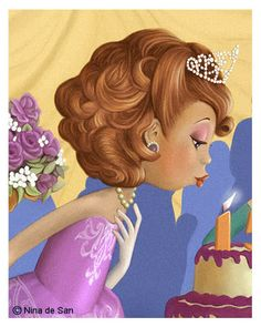 My Personal Cover Pin Happy Birthday, It's Your Birthday, Birthday Wishes, Decoupage, Marquis, Creation Photo, Cute Illustration, Illustrations, Cute Cartoon