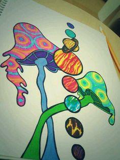 Trippy drawing Shroomies