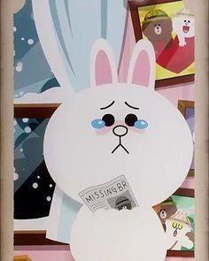Cony Brown, Brown Bear, Cute Couple Cartoon, Cute Cartoon, Line Cony, Bear Gif, Chibi Cat, Cute Love Gif, Bunny And Bear
