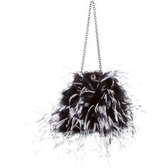 Pre-owned Philosophy di Alberta Ferretti Feather-Embellished Satin... ($175) ❤ liked on Polyvore featuring bags, handbags, black, clear handle bags, handle bag, feather purse, clear handbags purses and embellished handbags
