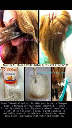 How To Naturally Lighten Your HairLike, save, share and follow! Luv ya!!! 😘