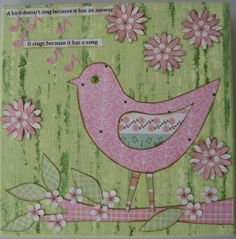 Singing bird canvas