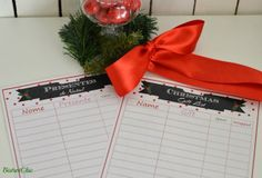 Christmas Gift List Freebie by BistrotChic