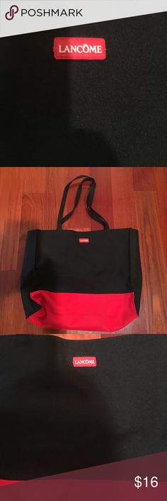 Lancôme cosmetics Tote Bag Lancôme cosmetics Tote bag never used, just sitting in my closet. Offers welcome and all purchases free gift. You pick your gift 🎁! Lancome Bags Cosmetic Bags & Cases