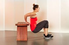5. Triceps Dips - 1 minute - last 15 seconds to quick and short dips