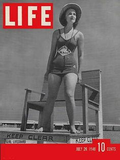 4fabdb992a78 Lady Lifeguard on the cover of LIFE