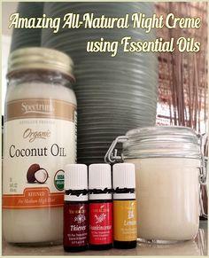 Amazing All-Natural Night Cream Using Essential Oils