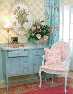 Floral shabby