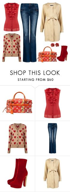 """Sans titre #3"" by carolinesaracosa77 on Polyvore featuring mode, Louis Vuitton, Coast, Burberry, MANGO, Christian Louboutin et Lila Getty"