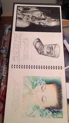 Sketchbook drawings – A Level Art Sketchbook - Water A Level Art Sketchbook, Sketchbook Layout, Sketchbook Drawings, Art Sketches, Sketchbook Project, Photography Sketchbook, Art Diary, Art Folder, Art Journal Inspiration