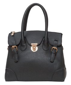 Love this Black Carlyle Satchel by Elise Hope on #zulily! #zulilyfinds #elisehope