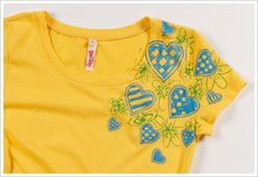 Random Heart T-shirt #PlaidCrafts #crafts
