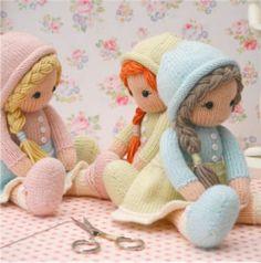Вязаные куклы спицами с описанием и фото, подробный мастер класс.
