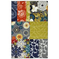 Mohawk Home Secret Garden Patch Multicolor Rectangular Indoor Tufted Area Rug (Common: 5 x 8; Actual: 60-in W x 96-in L x 0.5-ft Dia)