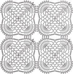15. 블루도일리 / 아름다운 코바늘 모티브 테이블 센터 도안 : 네이버 블로그