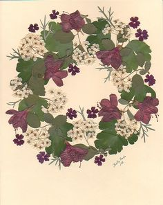 Pressed flowers wreath