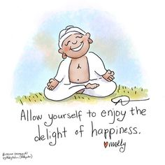 Buddha Doodle - 'Delight' by Mollycules