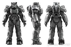 GameInformer: The Making of Fallout 4(6-page article, no spoilers aside from the names of a couple of real-world locations in the game) Fallout 4 Armour, Fallout 4 Weapons, Fallout Four, Fallout Power Armor, Fallout Cosplay, Fallout Art, T 60 Power Armor, Silver Samurai, Fallout Concept Art