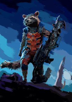 Guardians of the galaxy Rocket Raccoon    I created Rocket Raccoon from Guardians of the Galaxy in photoshop. And I recorded the process