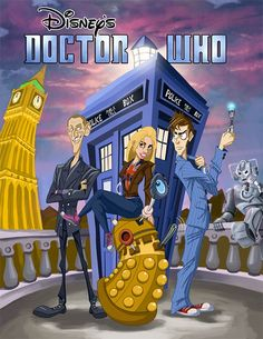 Disney version of Doctor Who I Am The Doctor, Doctor Who Tv, Twelfth Doctor, Eleventh Doctor, Terry Pratchett Discworld, Doctor Who Wallpaper, Police Box, Christopher Eccleston, Great Tv Shows