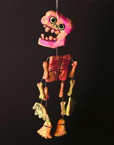 dancing skeleton - model magic
