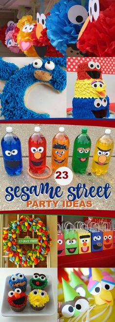 23 Sensational Sesame Street Party Ideas via @spaceshipslb