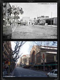 Comparativa de una imagen del Mercado del Ninot 1898-y una casi actual.                        FOTOS DE BARCELONA Fotografías comparativas de Barcelona. Pasado y presente