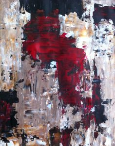 Abstract Art Painting Brown Beige Black Red White on Etsy