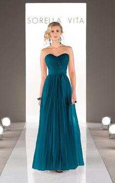 Maid Your Way Convertible Tulle long bridesmaid dresses with two streamers - drape, twist or wrap the streamers to create more than 18 diffe...