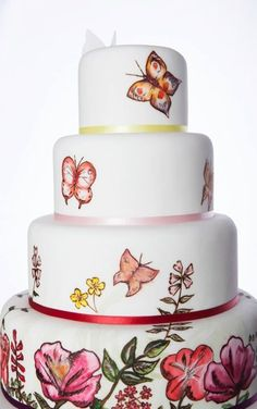 Butterfly cake - Hand painted