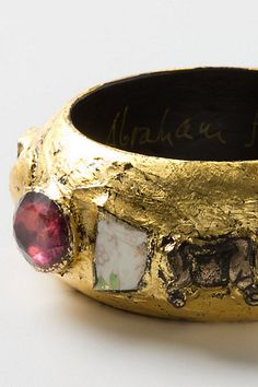 One of a kind Mosaic Findings Bangle by artist/designer Alexandra Abraham, now at Anthropologie