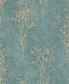 Floresta by Arthouse - Teal : Wallpaper Direct Look Wallpaper, Silver Wallpaper, Embossed Wallpaper, Vinyl Wallpaper, Pattern Wallpaper, Wallpaper Ideas, Feature Wallpaper Living Room, Cream Wallpaper, Teal Living Rooms