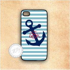 monogrammed iphone cases | ... Nautical Stripes Custom Monogram Iphone Case Hard Cover on Luulla
