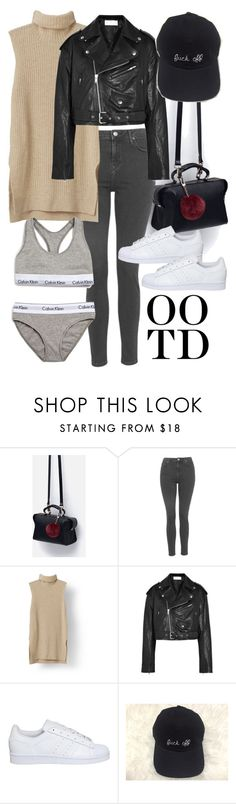"""OOTD"" by minimalmanhattan ❤ liked on Polyvore featuring Zara, Topshop, Faith Connexion, adidas, Calvin Klein Underwear, women's clothing, women, female, woman and misses"