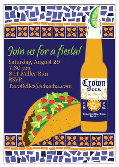 Mosaic Mexican Food Taco Fiesta Party by SBVintageAndDesign