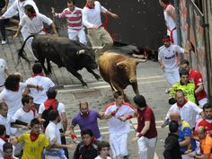 San Fermin Fest. running of the bull | Pamplona, SPAIN.